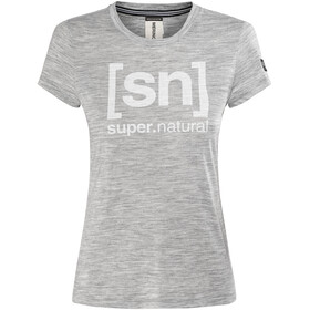 super.natural Essential I.D. - Camiseta manga corta Mujer - gris